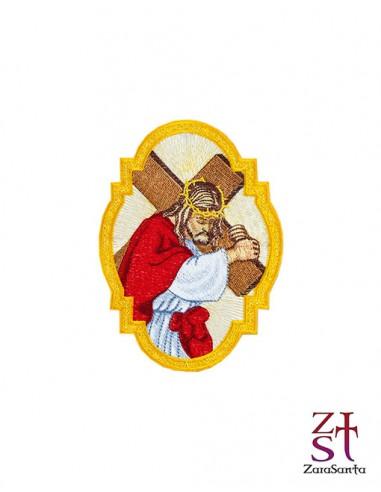 APLICACIÓN BORDADA CRISTO CON CRUZ